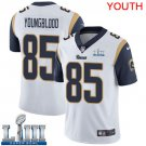 Youth Jack Youngblood Rams White Stitched Jersey Super Bowl LIII #85 Road