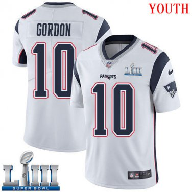 huge selection of f4062 fa7a2 Patriots #10 Josh Gordon Youth Road White Stitched Jersey ...