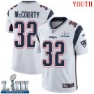 Patriots #32 Devin McCourty Youth Road White Stitched Jersey Super Bowl LIII