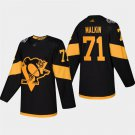 Men's 2019 Stadium Series Penguins Evgeni Malkin Black ALL Stitched Jersey