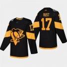 Men's 2019 Stadium Series Penguins Bryan Rust Black ALL Stitched Jersey