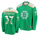 Men's Bruins #37 Patrice Bergeron 2019 St. Patrick's Day Green Stitched Jersey