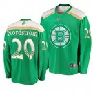 Men's Bruins Joakim Nordstrom 2019 St. Patrick's Day Green Stitched Jersey