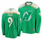 Men's Devils #9 Taylor Hall 2019 St. Patrick's Day Green Stitched Jersey