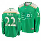 Men's Flyers #22 Dale Weise 2019 St. Patrick's Day Green Stitched Jersey