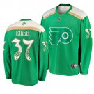 Men's Flyers #37 Brian Elliott 2019 St. Patrick's Day Green Stitched Jersey