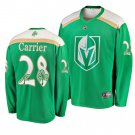 Men's Golden Knights #28 William Carrier 2019 St. Patrick's Day Green Stitched Jersey