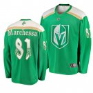 Men's Golden Knights #81 Jonathan Marchessault 2019 St. Patrick's Day Green Stitched Jersey
