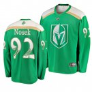 Men's Golden Knights #92 Tomas Nosek 2019 St. Patrick's Day Green Stitched Jersey