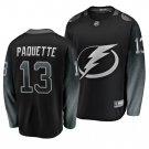 Men's Lightning #13 Cedric Paquette Alternate Black Stitched Jersey