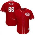 Men's Reds 66 Yasiel Puig Red Embroidered Jersey