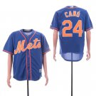Men's Mets 24 Robinson Cano Royal Embroidered Jersey