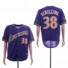 Men's Diamondbacks 38 Curt Schilling Purple Throwback Embroidered Jersey