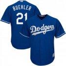 Men's Dodgers 21 Walker Buehler Royal Embroidered Jersey