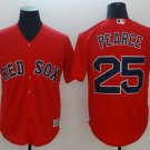 Men's Red Sox 25 Steve Pearce Red Embroidered Jersey