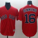Men's Red Sox 16 Andrew Benintendi Red Embroidered Jersey