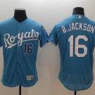 Men's Royals 16 Bo Jackson Light Blue Embroidered Jersey
