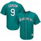 Men's Marlins 9 Dee Gordon Green Embroidered Jersey