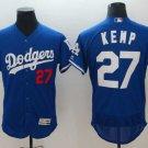 Men's Dodgers 27 Matt Kemp Royal Embroidered Jersey
