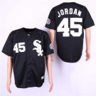 Men's White Sox 45 Michael Jordan Black Cooperstown Embroidered Jersey