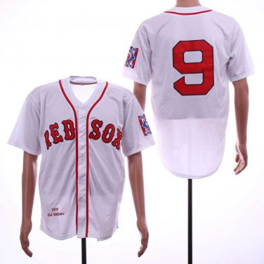 new concept fa114 a9d3a Men's Red Sox 9 Ted Williams White 1939 Throwback ...