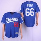 Men's Dodgers 66 Yasiel Puig Royal Embroidered Jersey