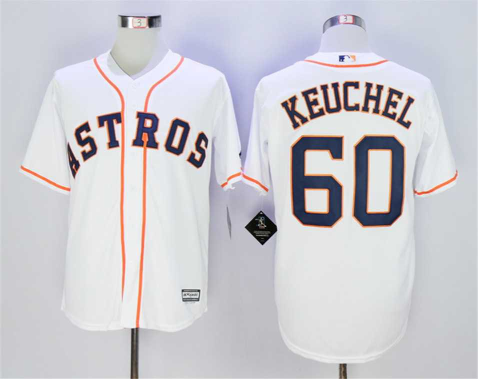 Men's Astros 60 Dallas Keuchel White Embroidered Jersey