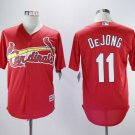 Men's Cardinals 11 Paul DeJong Red Embroidered Jersey