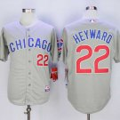 Men's Cubs 22 Jason Heyward Gray Road Embroidered Jersey