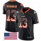 Nike Cleveland Browns 13 Odell Beckham Jr Black USA Flag Fashion Limited Jersey