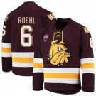 UMD Bulldogs 6 Louie Roehl Away Red Hockey Stitched Hockey Jersey
