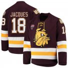 UMD Bulldogs 18 Jesse Jacques Away Red Hockey Stitched Hockey Jersey