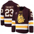 UMD Bulldogs 23 Nick Swaney Away Red Hockey Stitched Hockey Jersey