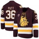 UMD Bulldogs 36 Ben Patt Away Red Hockey Stitched Hockey Jersey