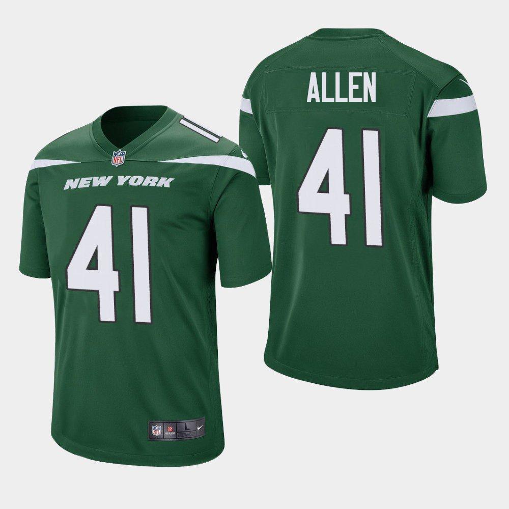 Youth New York Jets JOSH ALLEN Gotham Green Stitched Jersey 2019 Draft