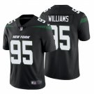 Men's 2019 New York Jets #95 Quinnen Williams Stealth Black Limited Jersey