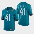 Men's 2019 Jacksonville Jaguars #41 Josh Allen Game Teal Jersey