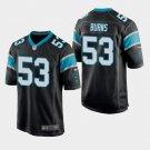Men's 2019 Carolina Panthers #53 Brian Burns Game Black Jersey