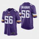 Men's 2019 Minnesota Vikings #56 Garrett Bradbury Game Purple Jersey