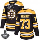 Charlie McAvoy Men's Bruins Home Black 2019 Stanley Cup Final Stitched Jersey