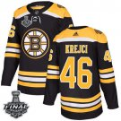David Krejci Men's Bruins Home Black 2019 Stanley Cup Final Stitched Jersey