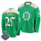 Bruins #25 Brandon Carlo St. Patrick Green 2019 Stanley Cup Final Stitched Jersey
