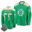Bruins #55 Noel Acciari St. Patrick Green 2019 Stanley Cup Final Stitched Jersey