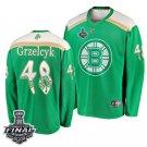 Bruins Matt Grzelcyk St. Patrick Green 2019 Stanley Cup Final Stitched Jersey