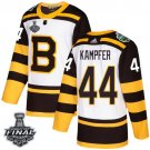 Men's Bruins #44 Steven Kampfer White Classic 2019 Stanley Cup Final Stitched Jersey