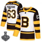 Men's Bruins #63 Brad Marchand White Classic 2019 Stanley Cup Final Stitched Jersey
