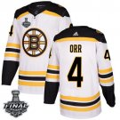 Men's Bruins #4 Bobby Orr White 2019 Stanley Cup Final Stitched Jersey