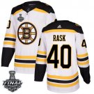 Men's Bruins #40 Tuukka Rask White 2019 Stanley Cup Final Stitched Jersey