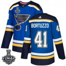 Robert Bortuzzo Men's Blues Royal Home Blue 2019 Stanley Cup Final Stitched Jersey