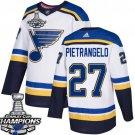 Men's St. Louis Blues #27 Alex Pietrangelo White 2019 Champions Patch Jersey